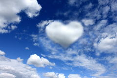 Heart on the sky Stock Images