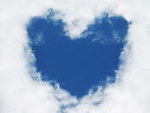 Heart in sky. Love sign. Royalty Free Stock Photos