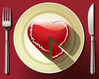 Heart Slice Royalty Free Stock Photography