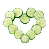 Heart of slices cucumber Royalty Free Stock Photos