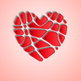 Heart slices Stock Photos