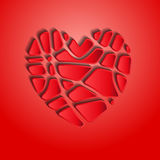 Heart in slices Royalty Free Stock Images