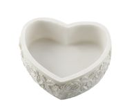 Heart small box from stone of the marble Stock Photos