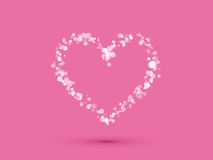 Heart from small polka dots Stock Photo