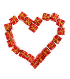 Heart from small presents Stock Images