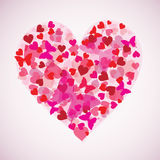 Heart with smaller hearts, valentine background () Royalty Free Stock Photos