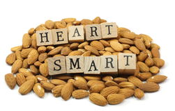 Heart Smart Almonds Stock Images