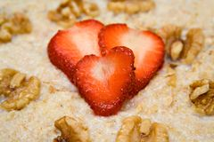 Heart Smart Breakfast Royalty Free Stock Photos