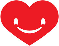 Heart with a smile Stock Photography