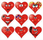 Heart Smiles to Valentine`s day Royalty Free Stock Image