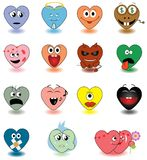 Heart _smileys Stock Photo