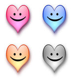 Heart smiling. Valentine day smiling hearts. aqua heart. shiny hearts Royalty Free Stock Photo