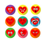 Heart Smiling Characters Stock Photography