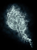 Heart in a smoke. Abstract human heart in a smoke on a black background Royalty Free Stock Image