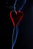 Heart from smoke Royalty Free Stock Photos