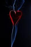Heart from smoke Royalty Free Stock Photos