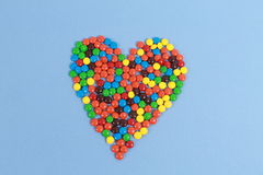 Heart snacks Royalty Free Stock Photos