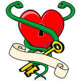 Heart Snake with Scroll Stock Photo