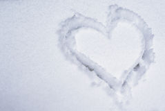 Heart on the snow Royalty Free Stock Image