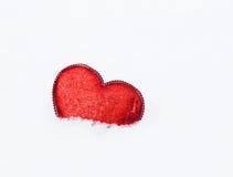 Heart in snow Stock Photo