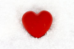 Heart in the snow Stock Photography
