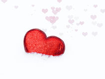 Heart in snow 2 Royalty Free Stock Photo