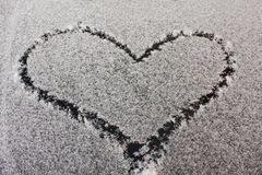Heart  snow Royalty Free Stock Images