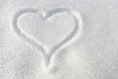 Heart in the snow Royalty Free Stock Photo