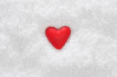 Heart on the snow Stock Images