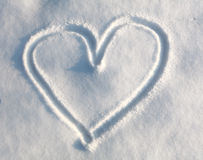 Heart in snow Stock Image