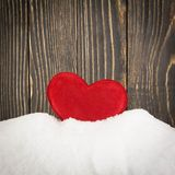 Heart in the snow Stock Image