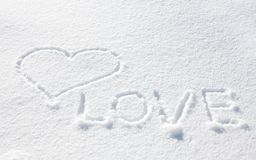Heart on the snow Royalty Free Stock Photos