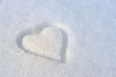 Heart on the snow Stock Photography