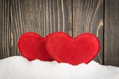 Heart in the snow Stock Images