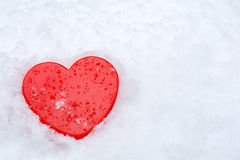 Heart on a snow Royalty Free Stock Photo
