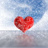 Heart in the snow. Royalty Free Stock Photo