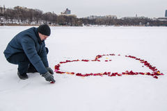 Heart on the snow Royalty Free Stock Photography