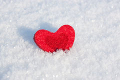 Heart on the snow. Royalty Free Stock Image