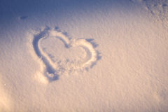 Heart in the snow Stock Photo