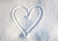 Heart in snow Royalty Free Stock Photo