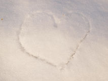 Heart in snow Stock Photography