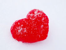Heart in Snow Royalty Free Stock Photography