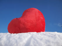 Heart in Snow Royalty Free Stock Images
