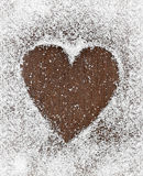 Heart from snow Stock Image