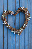 Heart with snowdrops Royalty Free Stock Photo