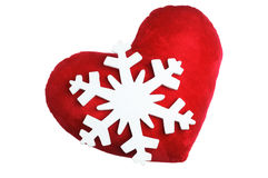 Heart and Snowflake Royalty Free Stock Image