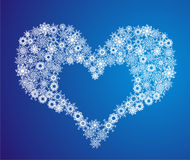 Heart of Snowflake. Vector illustration Royalty Free Stock Photography