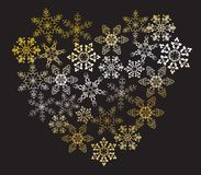 Heart from snowflakes Stock Image