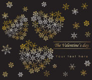 Heart from snowflakes Royalty Free Stock Photos