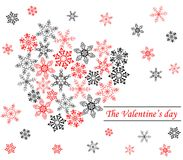 Heart from snowflakes Royalty Free Stock Photography